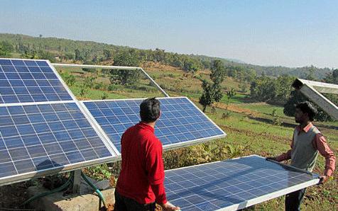 बिहार में सूर्य ऊर्जा से रोशनी